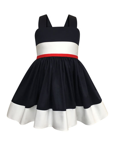 Colorblock Bow-Back Sun Dress