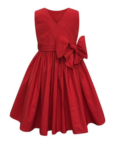 Sleeveless Cotton Dress w/ Big bow