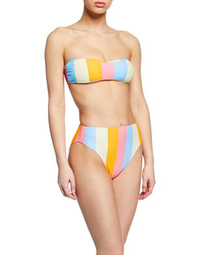 Enna Colorblock Bandeau Bikini Top and Matching Items