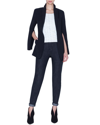 Odette Long Wool Blazer Jacket and Matching Items