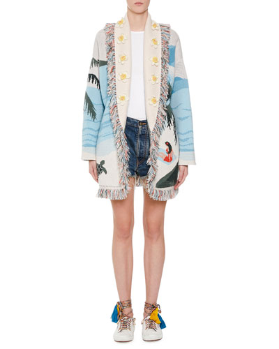 Cashmere Hawaiian Landscape Cardigan and Matching Items