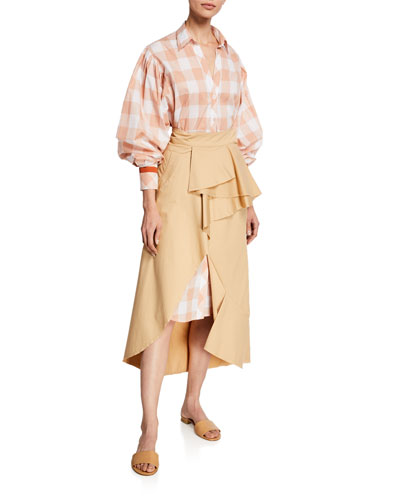 Seasonal Shades Plaid 1/2-Sleeve Shirtdress and Matching Items