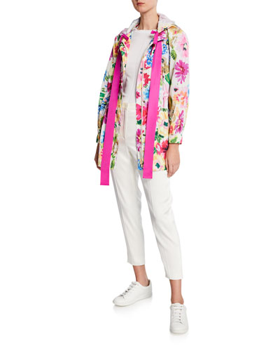 Floral Print Anorak Jacket and Matching Items