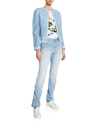 Straight Leg Embroidered Side Jeans and Matching Items