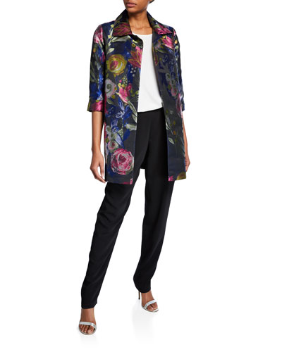 Plus Size Garden Variety Jacquard Party Topper Jacket and Matching Items