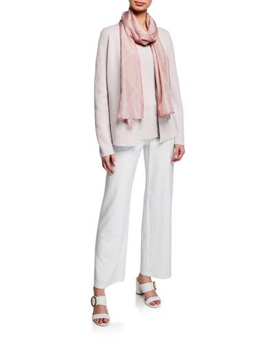 Shaped Silk/Organic Cotton Cardigan and Matching Items  Plus Size