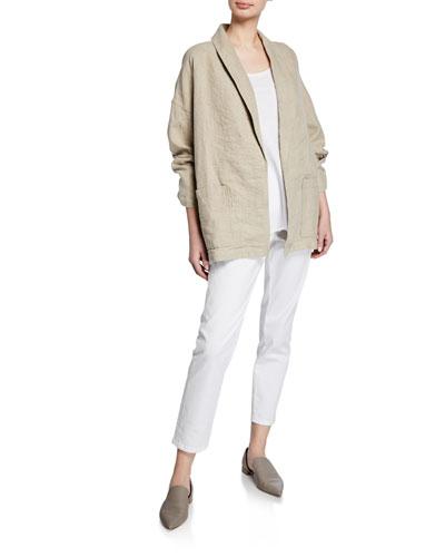 Organic Linen Shawl Collar Jacket  Petite and Matching Items