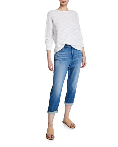 Organic Cotton Denim Tapered Ankle Jeans and Matching Items  Petite