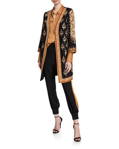 Rowen Embroidered Tapestry Coat  and Matching Items