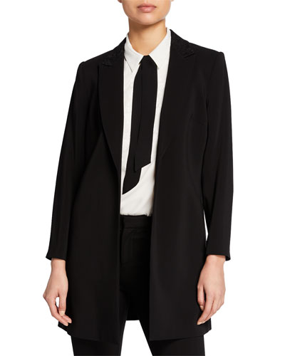 Polly Embroidered Open-Front Blazer and Matching Items