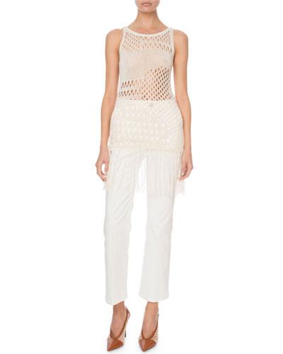 Carmela Sleeveless Fringe-Hem Sweater and Matching Items