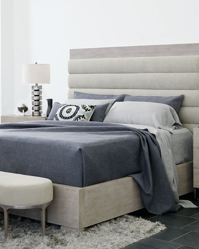 Linea Channel-Tufted Queen Bed  and Matching Items
