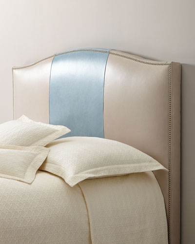 Florian King Leather Headboard  and Matching Items