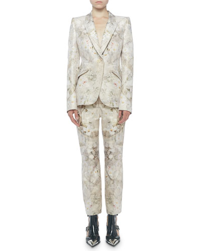 Ophelia Print Wool-Silk Blazer and Matching Items