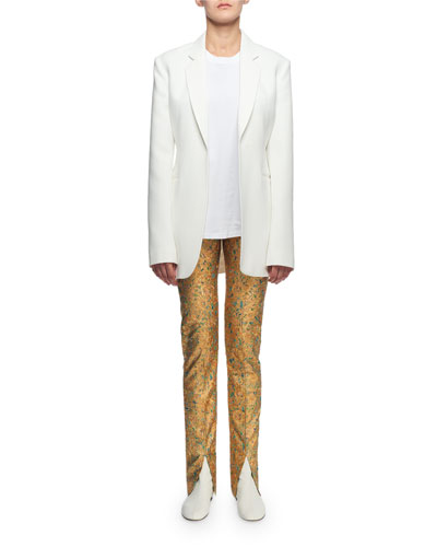 Skinny Flat-Front Pants and Matching Items