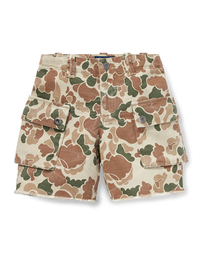 Camo Cargo Shorts  Size 2-4  and Matching Items