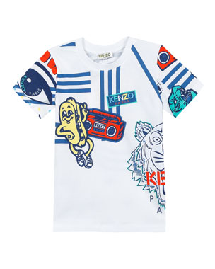 3abd372ee79 Kenzo Assorted Icon Graphic T-Shirt