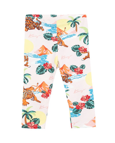 Tiger & Palm Tree-Print Leggings  Size 12-18 Months  and Matching Items