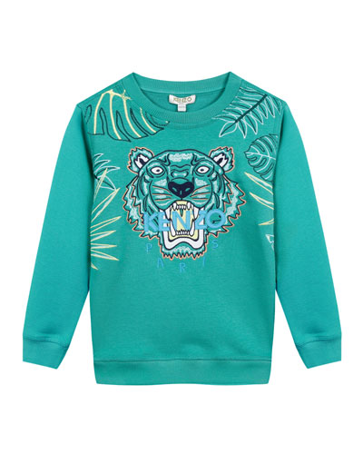 Botanical Tiger Embroidered Sweatshirt  Size 12-18 Months  and Matching Items