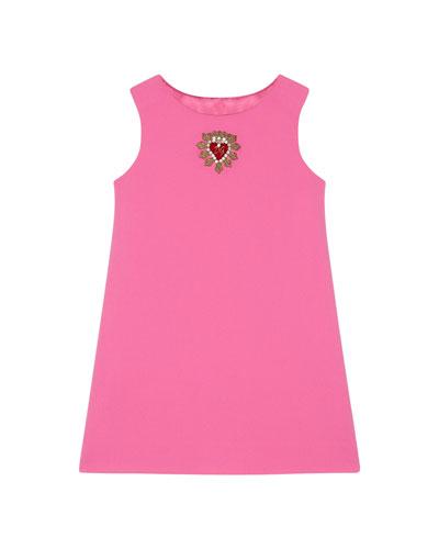 A-Line Sleeveless Logo Crest Dress