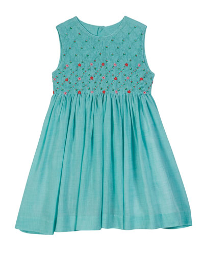 Sleeveless Voile Smocked Dress  Size 2-4T and Matching Items