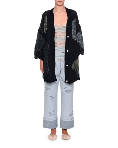 1/2-Sleeve Patch Kimono Cardigan and Matching Items