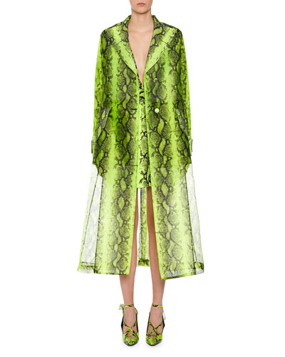 Coat Python Printed Trench F and Matching Items