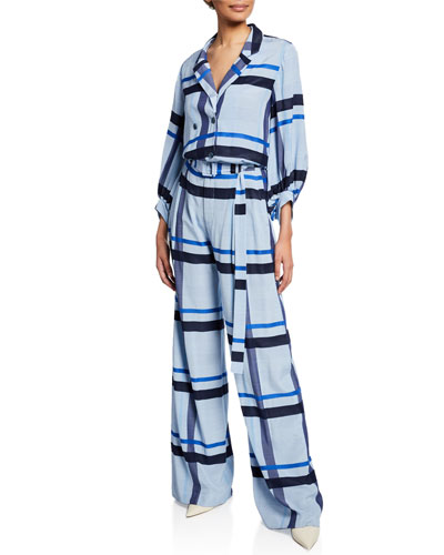 Full-Sleeve Graphic Stripe Top and Matching Items