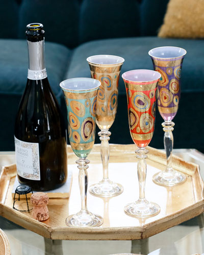 Regalia Champagne Glass, Aqua and Matching Items