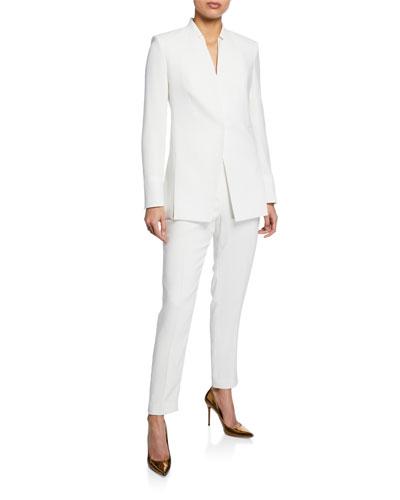 Ava One-Snap Slit Blazer Jacket and Matching Items