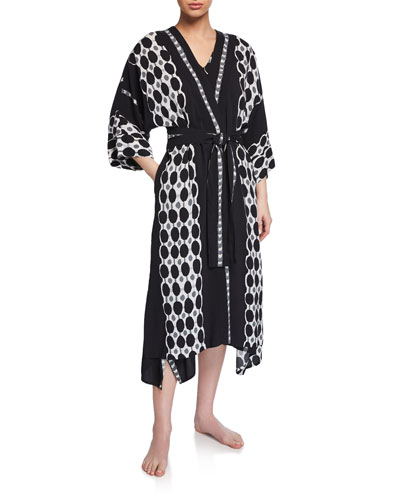 Utopia Graphic-Print Long Robe and Matching Items