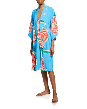 c5710ac0dbd4 Natori Nova Floral-Print Robe Nova Floral-Print Nightgown