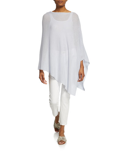 Organic Linen/Cotton Asymmetric Poncho and Matching Items