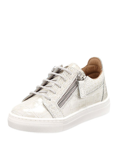 Selma Snake-Embossed Leather Low-Top Sneaker, Toddler  and Matching Items