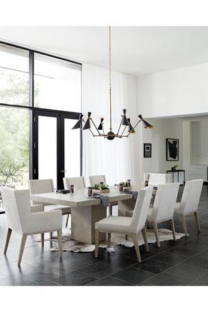 Bernhardt Linea Buffet Linea Double Pedestal Dining Table