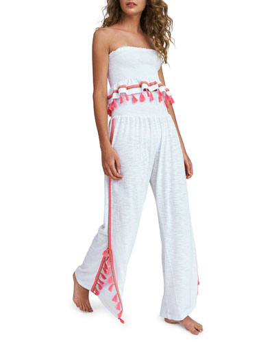 Jasmine Smocked Tassel Coverup Pants and Matching Items