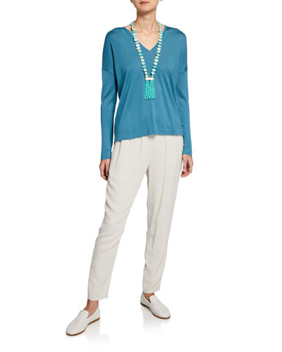 Plus Size Silk/Cashmere V-Neck Sweater and Matching Items