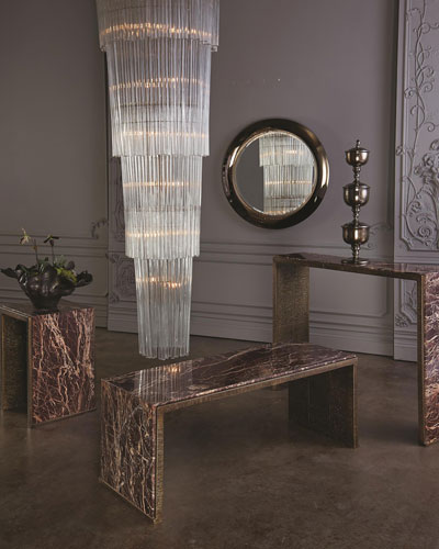 Waterfall Marble Console Table  and Matching Items
