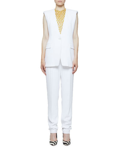 Clean Longer Length Straight-Leg Trousers and Matching Items