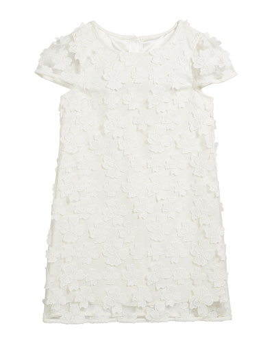 Chloe 3D Floral Applique Dress  Size 2T-6  and Matching Items