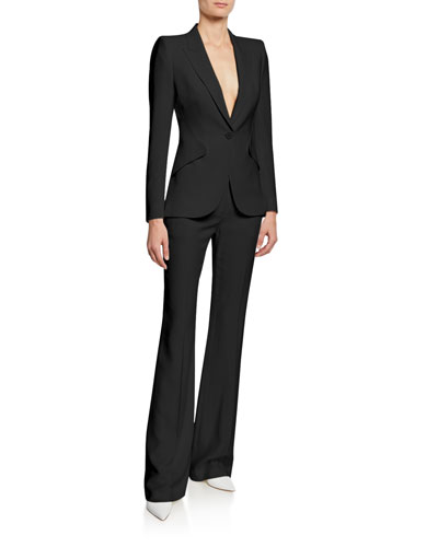 Leaf Crepe Classic Suiting Pants and Matching Items