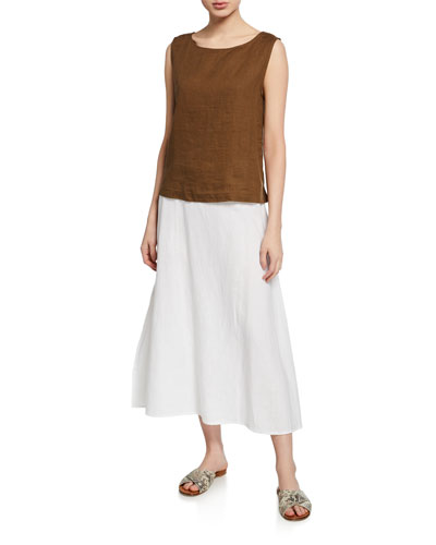 Organic Handkerchief Linen A-Line Shell and Matching Items