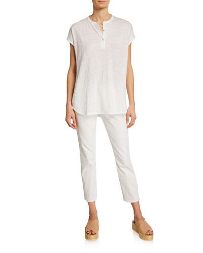 Mandarin Collar Linen Tunic and Matching Items
