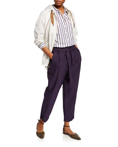 Monili-Seamed Taffeta Zip-Front Jacket and Matching Items