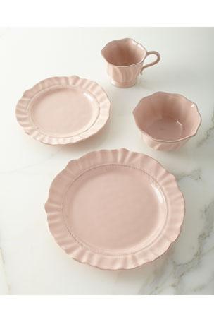 Juliska Madeleine Petal Pink Coffee/Tea Cup Madeleine Petal Pink Salad Plate Madeleine Petal Pink Dinner Plate