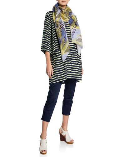 Geneva Striped 3/4 Sleeve Tunic and Matching Items