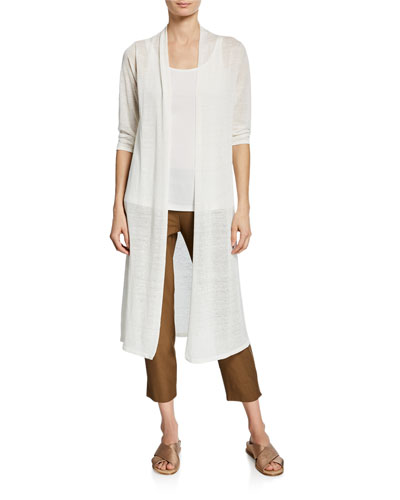 Washable Stretch-Crepe Side-Slit Ankle Pants and Matching Items