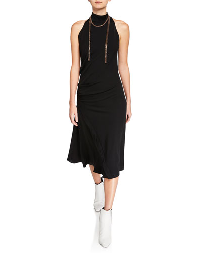 Mock-Neck Stretch Jersey Dress and Matching Items