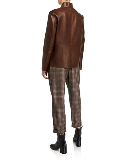 Brunello Cucinelli Reversible Leather Blazer Jacket