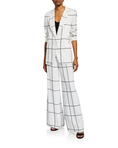 James Multi-Stripe Button-Front Blazer and Matching Items
